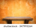 empty top wooden shelves and... | Shutterstock . vector #347993264