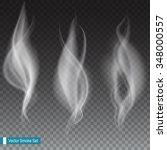 white smoke waves on... | Shutterstock .eps vector #348000557