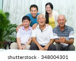 asian senior father with his... | Shutterstock . vector #348004301