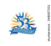53rd anniversary ribbon logo... | Shutterstock .eps vector #348007331