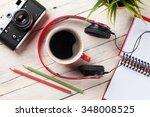 set of travel stuff. camera ...   Shutterstock . vector #348008525