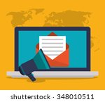 device concept with icons... | Shutterstock .eps vector #348010511