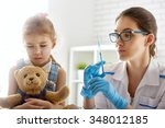 a doctor makes a vaccination to