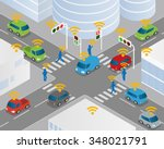 traffic and wireless network ... | Shutterstock .eps vector #348021791