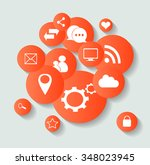 social media icons for... | Shutterstock .eps vector #348023945