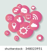 social media icons for... | Shutterstock .eps vector #348023951