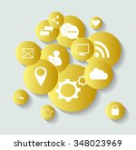 social media icons for... | Shutterstock .eps vector #348023969