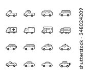 set of car icons   eps10 vector ... | Shutterstock .eps vector #348024209