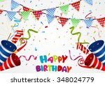 happy birthday background with... | Shutterstock .eps vector #348024779