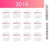 modern and simple calendar 2016....   Shutterstock .eps vector #348033767