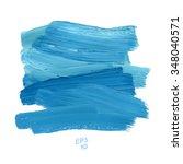 brush stroke blue vector...   Shutterstock .eps vector #348040571