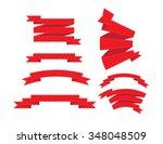 banner ribbons vector set  | Shutterstock .eps vector #348048509