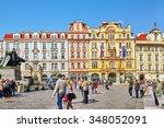prague czech republic ... | Shutterstock . vector #348052091