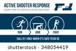 active shooter response safety... | Shutterstock .eps vector #348054419