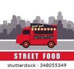 vector illustration diner on... | Shutterstock .eps vector #348055349