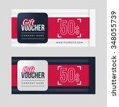gift voucher template set. two... | Shutterstock .eps vector #348055739