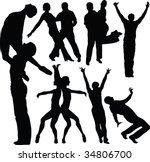 dance  vector  silhouette | Shutterstock .eps vector #34806700