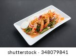 winged bean salad with shrimp  | Shutterstock . vector #348079841