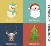 set of winter christmas stylish ...   Shutterstock .eps vector #348086165