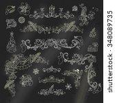 chalk christmas calligraphic... | Shutterstock .eps vector #348089735
