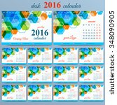 vector template desk calendar... | Shutterstock .eps vector #348090905