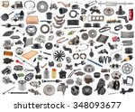 lot of new auto spare parts....   Shutterstock . vector #348093677