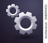 vector of shiny gears   vector...   Shutterstock .eps vector #348094451