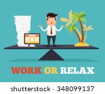 concept of life and work... | Shutterstock .eps vector #348099137