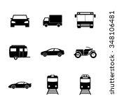 transportation icons. flat... | Shutterstock . vector #348106481