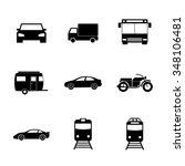transportation icons. flat... | Shutterstock . vector #348106481