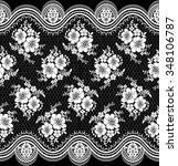 black damask vintage floral... | Shutterstock .eps vector #348106787