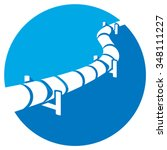 pipeline flat icon  | Shutterstock .eps vector #348111227