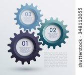 vector of infographic gears  ...   Shutterstock .eps vector #348112055