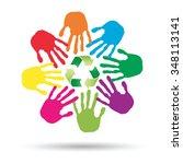 vector concept or conceptual... | Shutterstock .eps vector #348113141