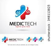 medic technology logo template...   Shutterstock .eps vector #348113825