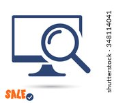 monitoring  icon. one of set... | Shutterstock .eps vector #348114041