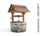 water well 3d illustration | Shutterstock . vector #348115877