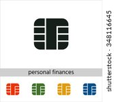 chip of credit card icon. set... | Shutterstock .eps vector #348116645