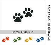 paws icon. set of varicolored... | Shutterstock .eps vector #348116711