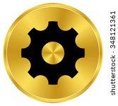 settings   gold vector icon | Shutterstock .eps vector #348121361