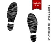 imprint soles shoes icon with...
