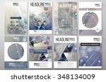 set of business templates for... | Shutterstock .eps vector #348134009