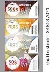 set of modern gift voucher... | Shutterstock .eps vector #348137021