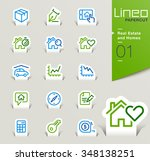 lineo papercut   real estate... | Shutterstock .eps vector #348138251