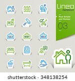 lineo papercut   real estate...   Shutterstock .eps vector #348138254
