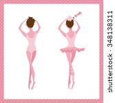 ballet dancers are preparing... | Shutterstock .eps vector #348138311