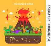 Prehistoric World Concept With...