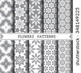 flower vector pattern pattern... | Shutterstock .eps vector #348149225