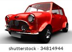 classic small car isolated on... | Shutterstock . vector #34814944