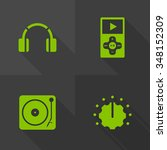vector flat icons   music
